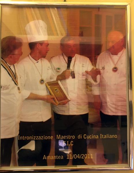 intronizzazione maestro della cucina italiana